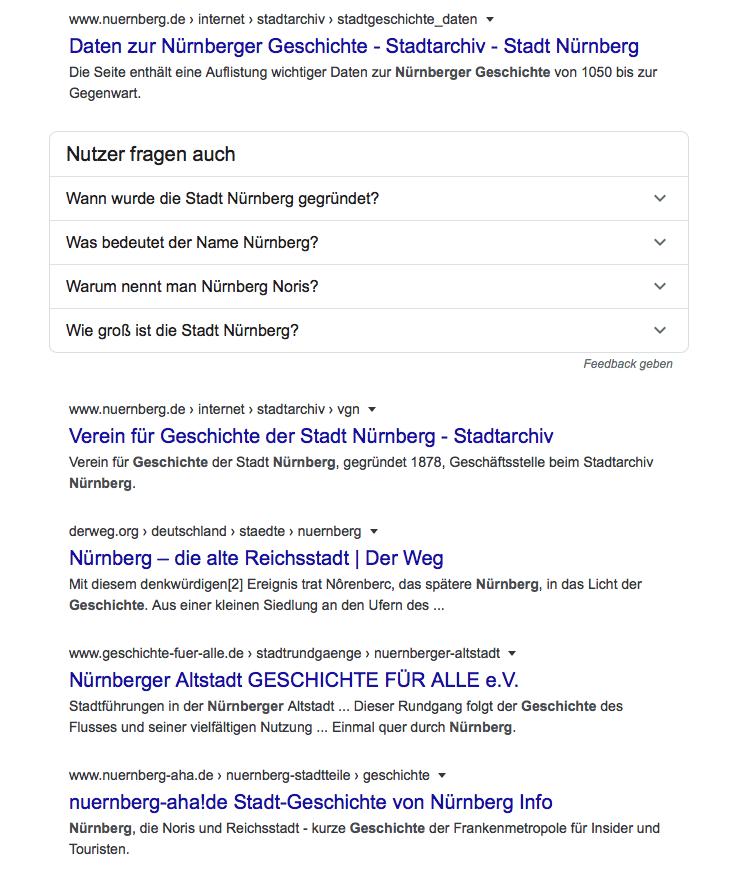 Google Suchergebnis ohne Local SEO Optimierung von die Mediaberater