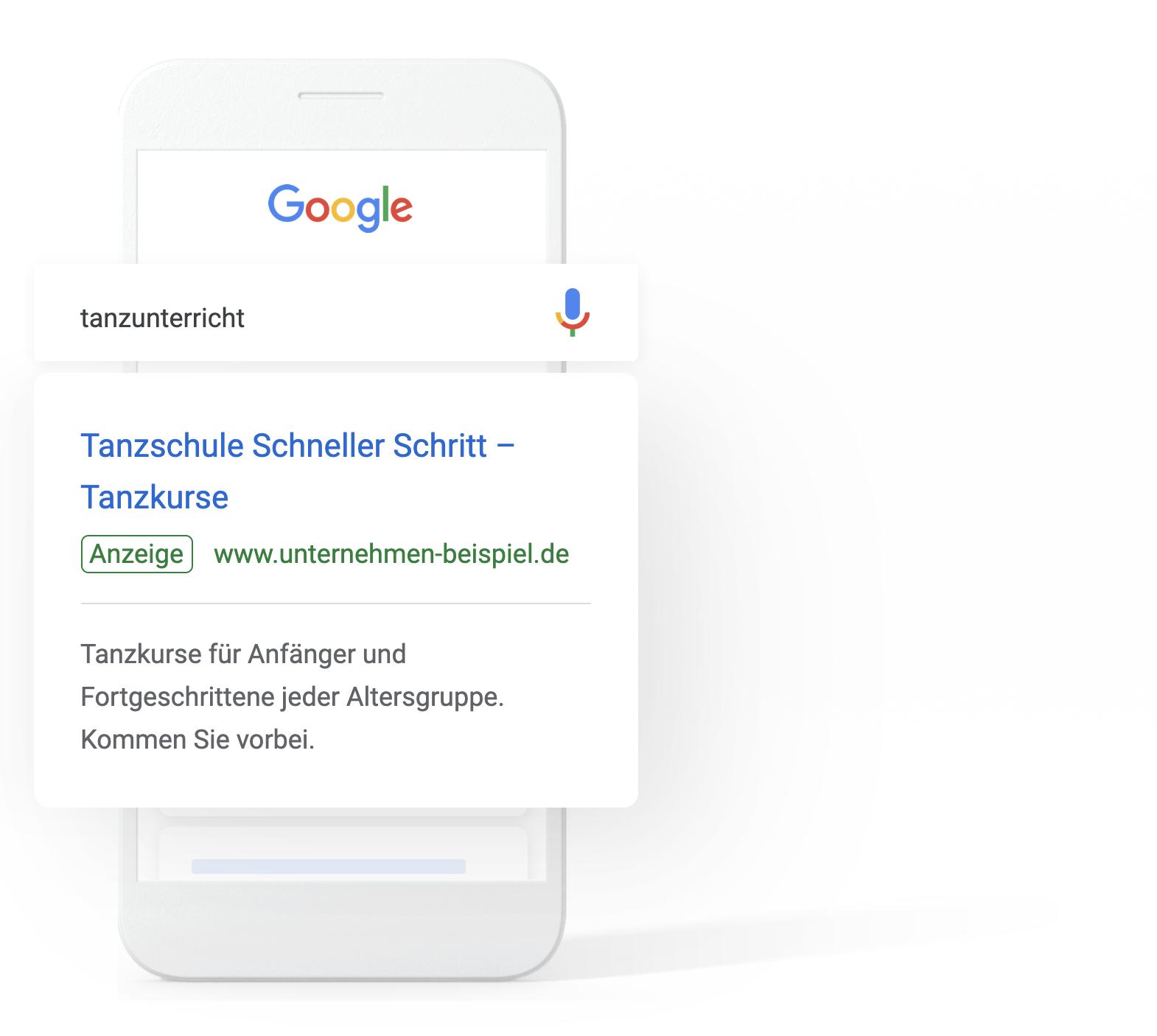 Google Suche MockUp